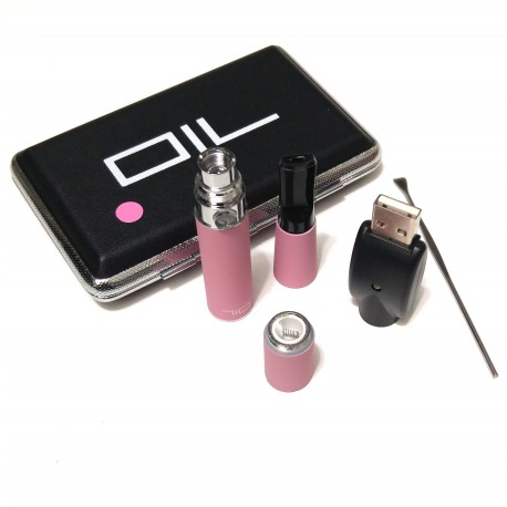 Skillet Wax Vaporizer 710 Mini kit Vape Pen Vaporizer electronic cigarette vape  kit - Pink
